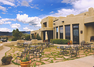 After 18 holes of golf, the club house at the Taos Country club has a pro shop with all the golf equipment and apparel you need, a lounge with stunning views of the Taos Mesa and Rocky Mountains, and a world-class restaurant.