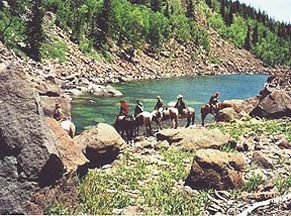 horseback riding in the Sangre de Cristo Mountains in Northern New Mexico